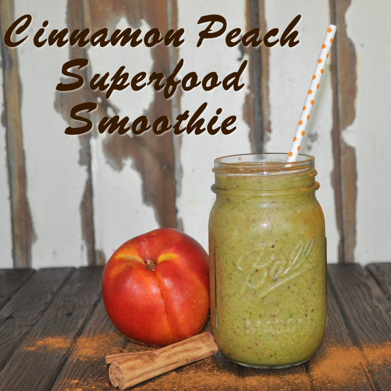 cinnamon peach superfood smoothie