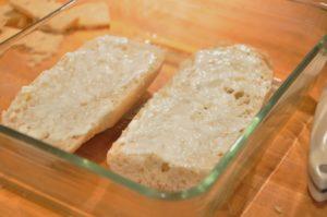 slathered bread