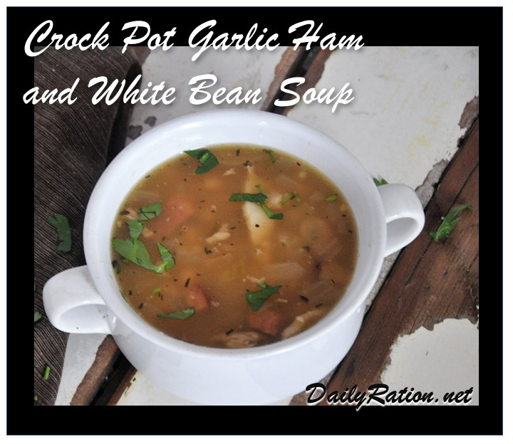 Croct Pot Garlic Ham and White Bean Soup
