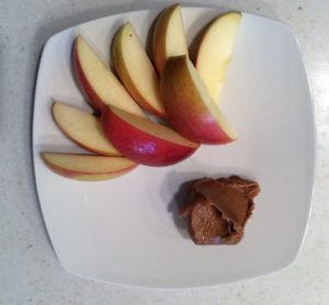 apples and nut butter snack