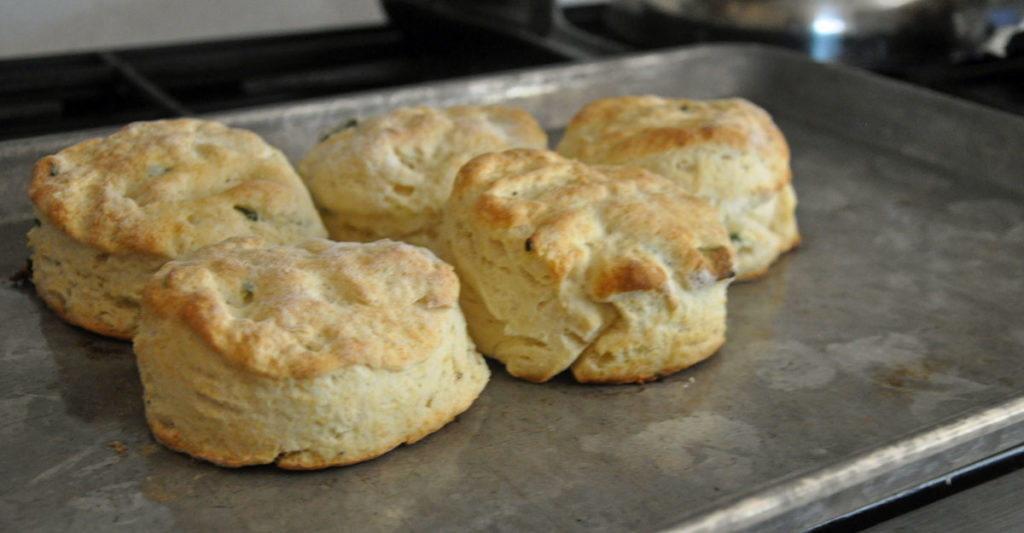 green onion black pepper biscuits