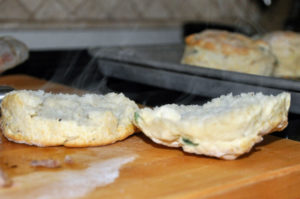 green onion black pepper biscuit