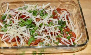twice roasted salad with herbs