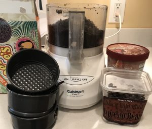 ingredients for chocolate mocha ice cream cake