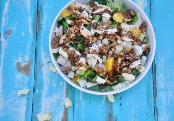 Citrus Chicken Salad with Herb Toasted Walnuts from DailyRation.net