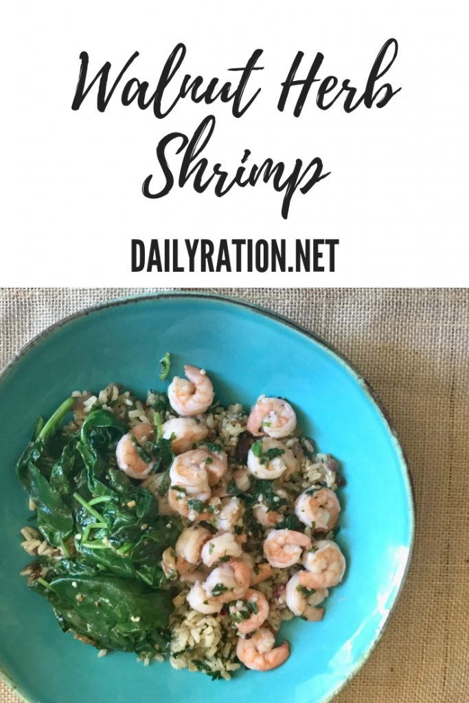 walnut herb shrimp from DailyRation.net